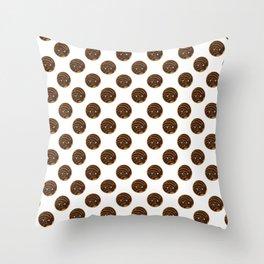 Chocolate Concha Pan Dulce (Mexican Sweet Bread) Throw Pillow
