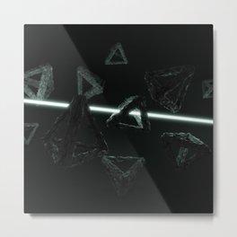 Space Triangles Metal Print