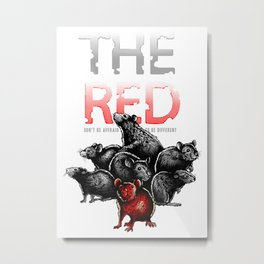 The Red Rat - be different Metal Print
