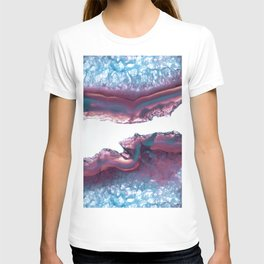Double Light Blue and Pink Agate T-shirt