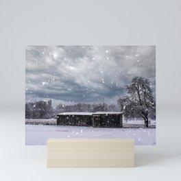 Swabian snow landscape Mini Art Print