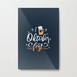 German Festival Season Typography Metal Print