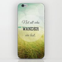 wander iPhone & iPod Skins featuring Wander by Olivia Joy StClaire