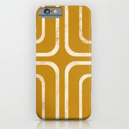 Yellow mustard bohemian design iPhone Case