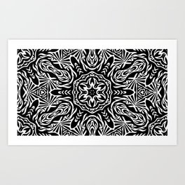The Cosmic Monochrome Sun Art Print