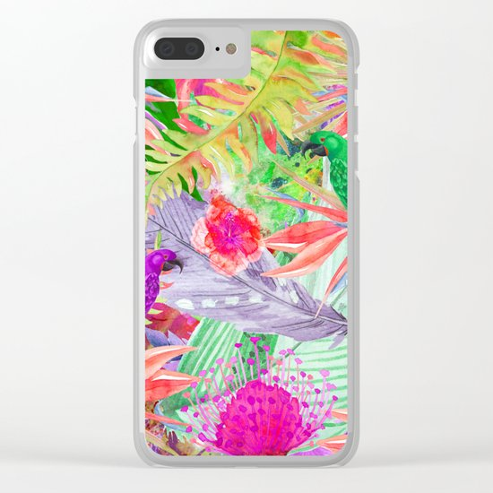 exotic parrots i Clear iPhone Case