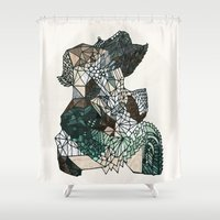 nordic Shower Curtains featuring Nordic collage by a.r.r.p.