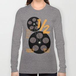 Federico Fellini, 8 e 1/2 (eight and half) italian movie poster, 8 1⁄2, otto e mezzo Long Sleeve T-shirt