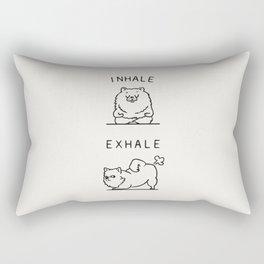 Inhale Exhale Pomeranian Rectangular Pillow