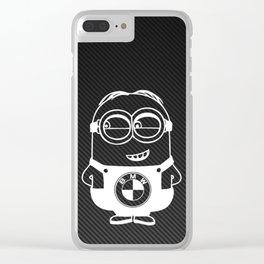 White Carbon minion Clear iPhone Case