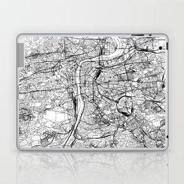 Prague White Map Laptop & iPad Skin