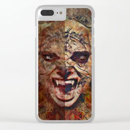 Two Face I Clear iPhone Case