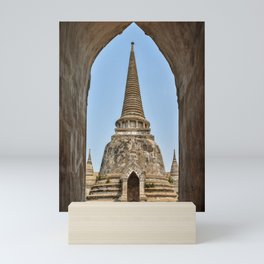 Chedis at Wat Phra Si Sanphet Mini Art Print
