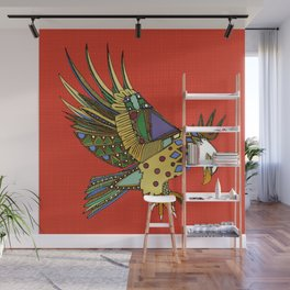 jewel eagle fire Wall Mural