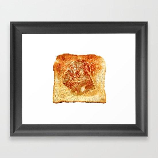 Darth Vader toast Framed Art Print