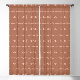 Adobe Cactus Pattern Blackout Curtain
