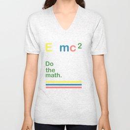 e=mc2 Unisex V-Neck