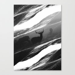 Oh Deer Black Canvas Print