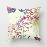 world maps Throw Pillows featuring Maps by MonsterBrown