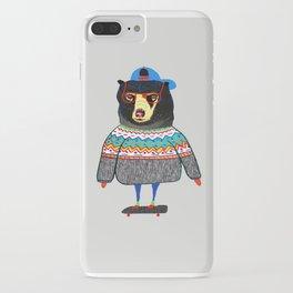 Skater Bear. iPhone Case