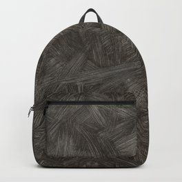 Black And White Brushstrokes Abstract Pattern Modern Art Backpack