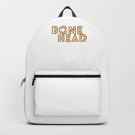 Hallows Eve Spooky Gift Bonehead Art Word Funny Halloween Party Backpack