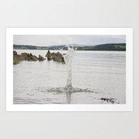 Splash 2 Art Print
