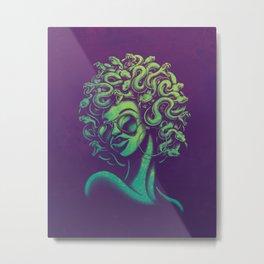 Funky Medusa Metal Print