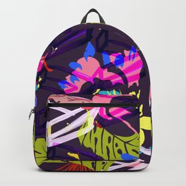 Mad Tropics Seamless Print Backpack