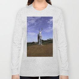 Veado Surfer Statue Standing Tall Long Sleeve T-shirt