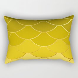 Golden Scales Rectangular Pillow