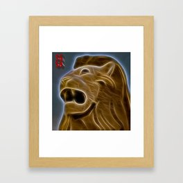 SG 50 Lion Framed Art Print