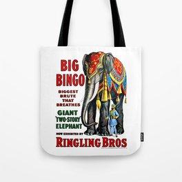 Big Bingo - Vintage 1916 Circus Poster Tote Bag