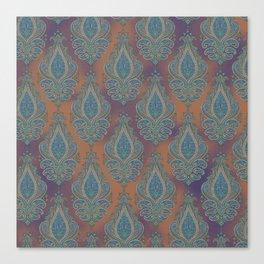 paisley in cinnamon Canvas Print