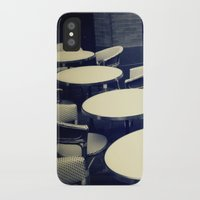 outdoor iPhone & iPod Cases featuring Outdoor Cafe Chairs by ELIZABETH THOMAS Photography of Cape Cod
