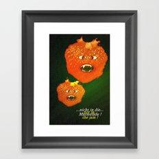 Not in the jam. Framed Art Print