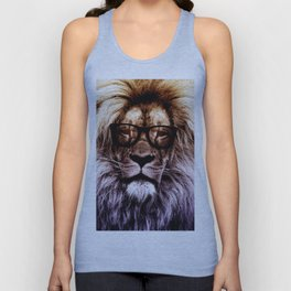 Hipster lion Unisex Tank Top