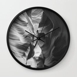 ANTELOPE CANYON XVI (B+W) Wall Clock
