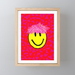 Smiley Print Framed Mini Art Print