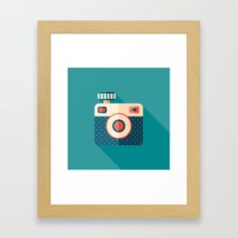 Camera with Flash Framed Art Print