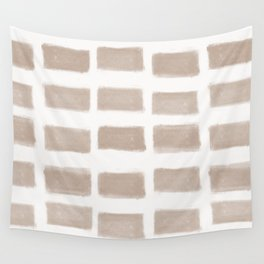Brush Strokes Horizontal Lines Nude on Off White Wall Tapestry