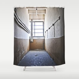 discarded Shower Curtain
