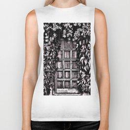 Black White Old Door Biker Tank