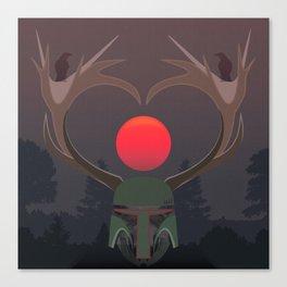 The last elk hunter Canvas Print