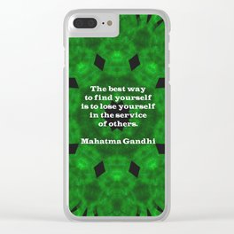 Gandhi Inspirational Quote About Self-Help Clear iPhone Case