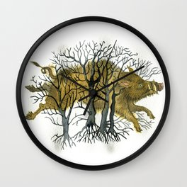 Enchanted boar Wall Clock