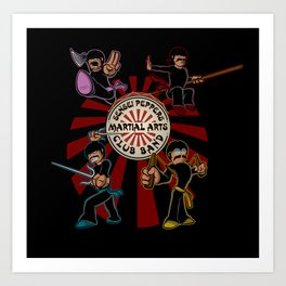 Sensei Pepper's Martial Arts Club Band Art Print