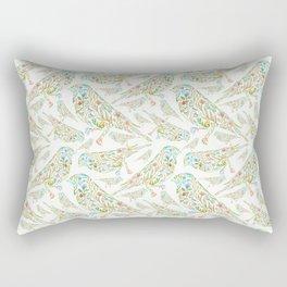 Floral birds multi Rectangular Pillow