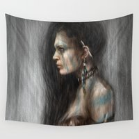 tribal Wall Tapestries featuring Tribal by Justin Gedak