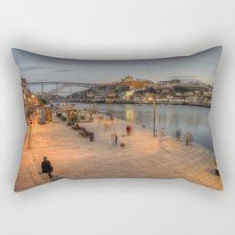 Porto Bridge Dusk Rectangular Pillow